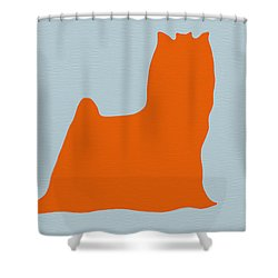 Yorkshire Terrier Orange Shower Curtain by Naxart Studio