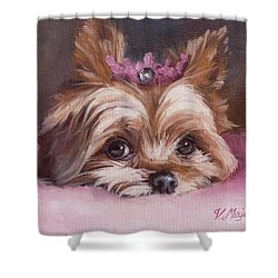 Yorkshire Terrier Princess In Pink Shower Curtain