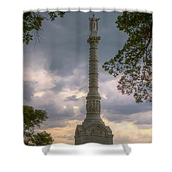Yorktown Victory Monument Shower Curtain by Jerry Gammon