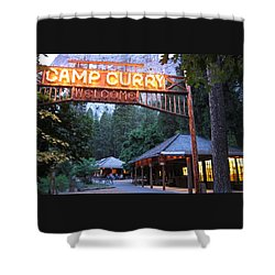 Yosemite Curry Village Shower Curtain