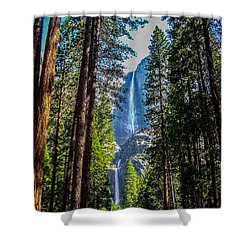 Shower Curtain featuring the photograph Yosemite Falls by Dany Lison