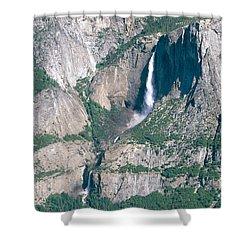 Yosemite Falls Shower Curtain by Mark Newman