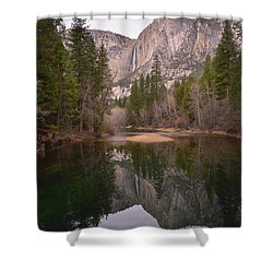 Yosemite Falls Reflection Shower Curtain