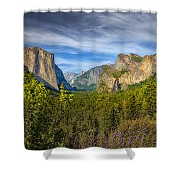 Shower Curtain featuring the photograph Yosemite From Tunnelview  by Janis Knight