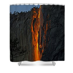 Yosemite Horsetail Falls Shower Curtain by Duncan Selby