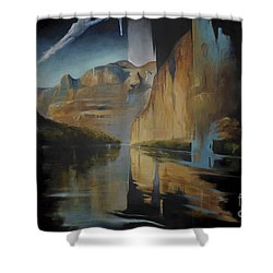 Yosemite Shower Curtain by Lin Petershagen
