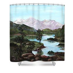 Yosemite Meadow Shower Curtain by Anastasiya Malakhova