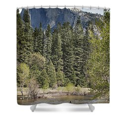 Yosemite National Park. Half Dome Shower Curtain by Juli Scalzi
