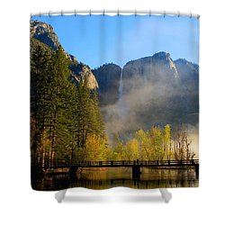 Yosemite River Mist Shower Curtain by Duncan Selby