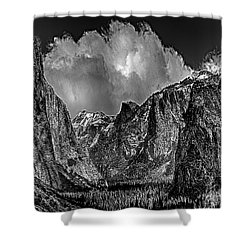 Yosemite Valley From Tunnel Shower Curtain by Bob and Nadine Johnston
