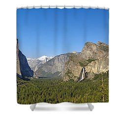 Shower Curtain featuring the photograph Yosemite Valley Moonrise by Steven Sparks