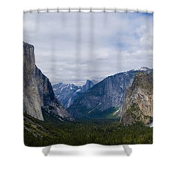 Yosemite Valley Panoramic Shower Curtain