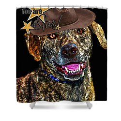 Shower Curtain featuring the digital art You Are A Star by Kathy Tarochione