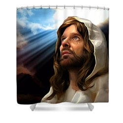 Shower Curtain featuring the painting You Are Loved by Karen Showell