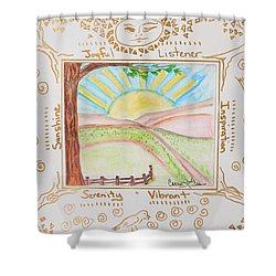 You Are My Sunshine Shower Curtain by Cassie Sears