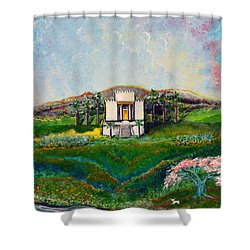 You Are The Temple Of God Shower Curtain by Cassie Sears