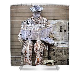 You Are What You Read Shower Curtain by Mary Machare