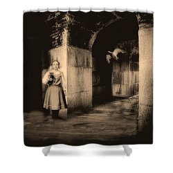 You Ask The Question Maybe I Will Give The Answer Shower Curtain by Bob Orsillo