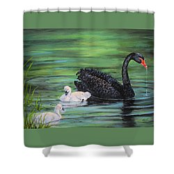 You Comin'--black Swan Shower Curtain