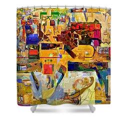 You Graciously Endow Man With Wisdom 16f Shower Curtain by David Baruch Wolk