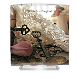 Shower Curtain featuring the photograph You Hold The Key To My Heart by Katie Wing Vigil