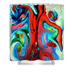 Shower Curtain featuring the painting You Make Me Feel Like Dancing by Joyce Dickens