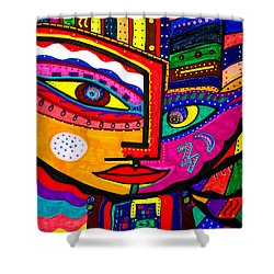 You Move Me - Face - Abstract Shower Curtain