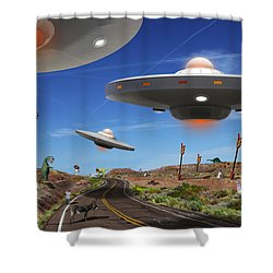 You Never Know . . . 5 Shower Curtain by Mike McGlothlen