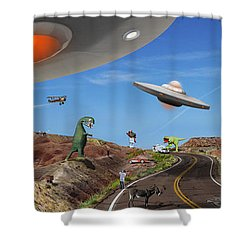 You Never Know . . . Panoramic Shower Curtain