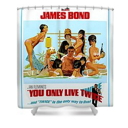 You Only Live Twice Shower Curtain by Georgia Fowler