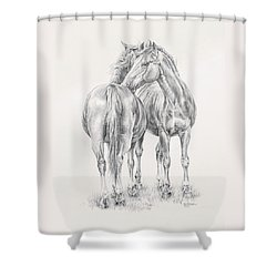 You Scratch My Back I'll Scratch Yours Shower Curtain