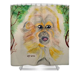 You Silly Monkey Shower Curtain by Maria Urso