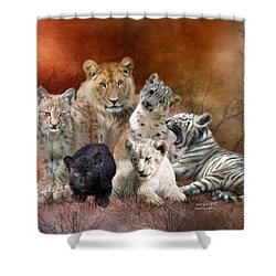 Young And Wild Shower Curtain by Carol Cavalaris