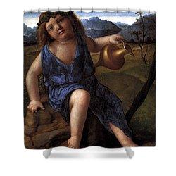 Young Bacchus Dionysus Giovanni Bellini 1514 Shower Curtain by Karon Melillo DeVega