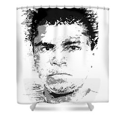 Young Cassius Clay Shower Curtain by Daniel Hagerman