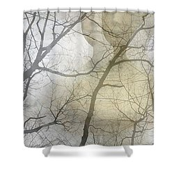 Young Girl In The Mist Shower Curtain