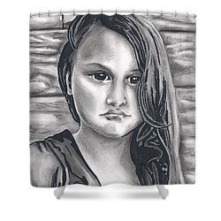 Young Girl- Shan Peck Contest Shower Curtain by Samantha Geernaert