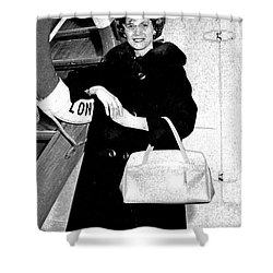 Young Lady On First Cruise Shower Curtain by Allan  Hughes
