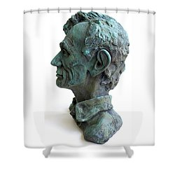 Young Lincoln -sculpture Shower Curtain by Derrick Higgins