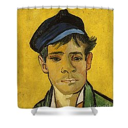 Young Man With A Hat Shower Curtain by Vincent Van Gogh