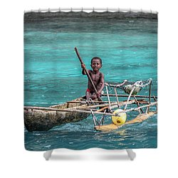 Young Seaman Shower Curtain