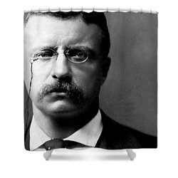 Young Theodore Roosevelt Shower Curtain by Bill Cannon