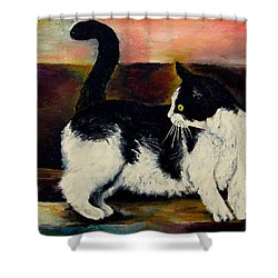 Your Pets Commission Me To Paint Shower Curtain by Carole Spandau