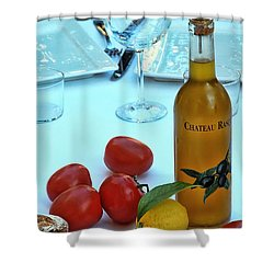 Shower Curtain featuring the photograph Your Table Is Ready by Allen Beatty