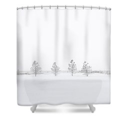 You're Hardly There Shower Curtain