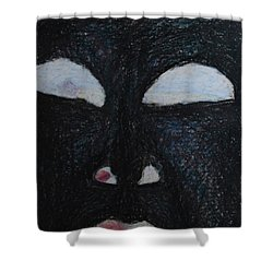 You're Standing In My Eye Shower Curtain by Nancy Mauerman