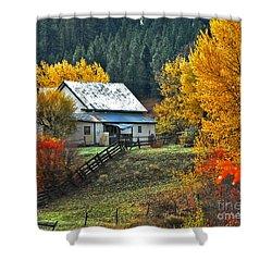 Yourn Barn Shower Curtain by Sam Rosen