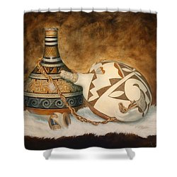 You Tube Video-indian Pots Shower Curtain