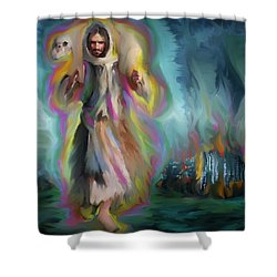 Yshuwh Yhwh Saves Shower Curtain by Hidden  Mountain