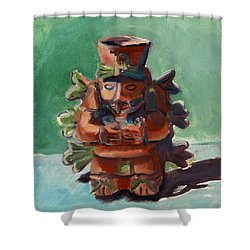 Yucatan Prince Shower Curtain by Pattie Wall